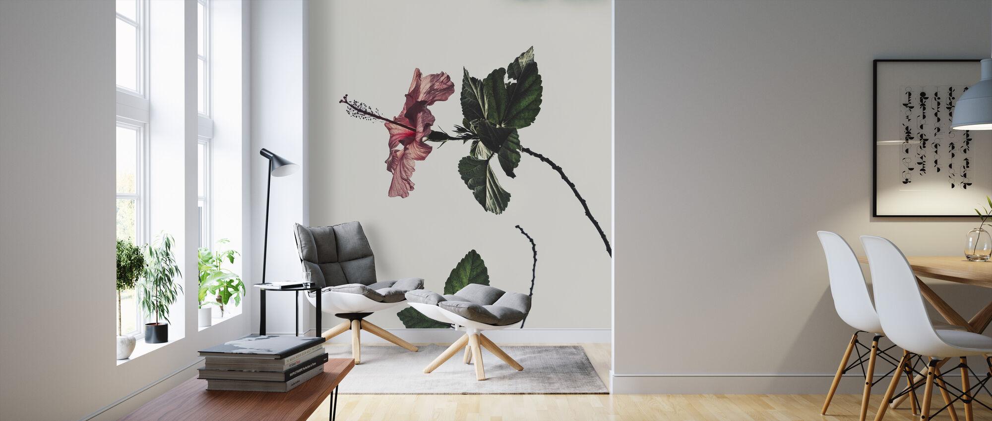 Estetisk hibiskus - Tapet - Vardagsrum
