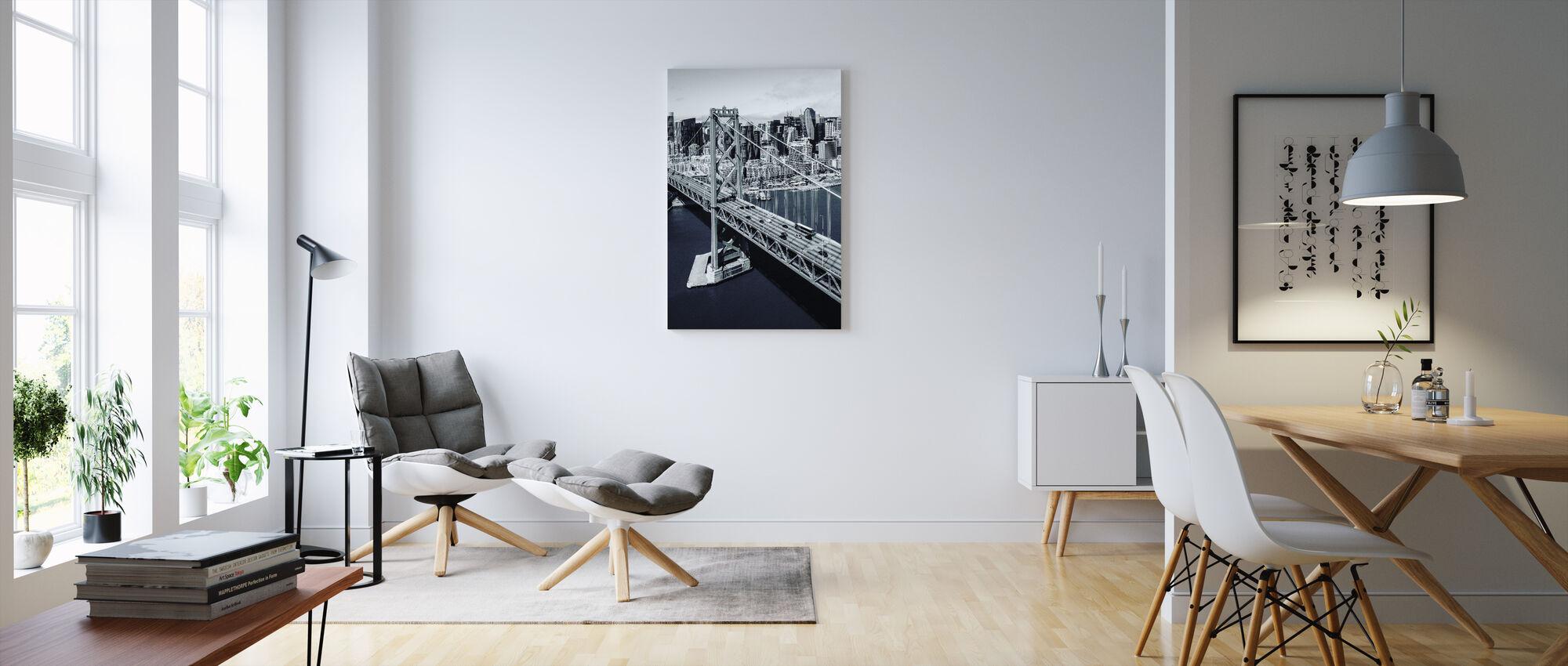 Bay-broen - Billede på lærred - Stue