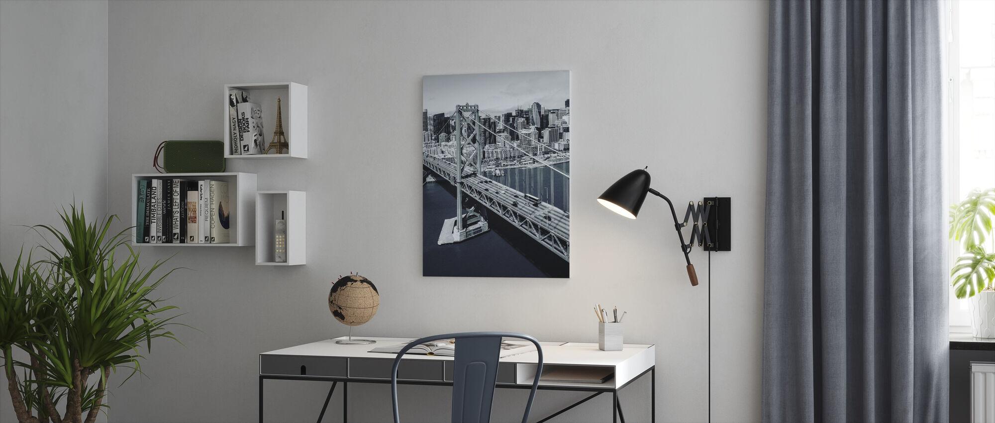 Bay-broen - Billede på lærred - Kontor