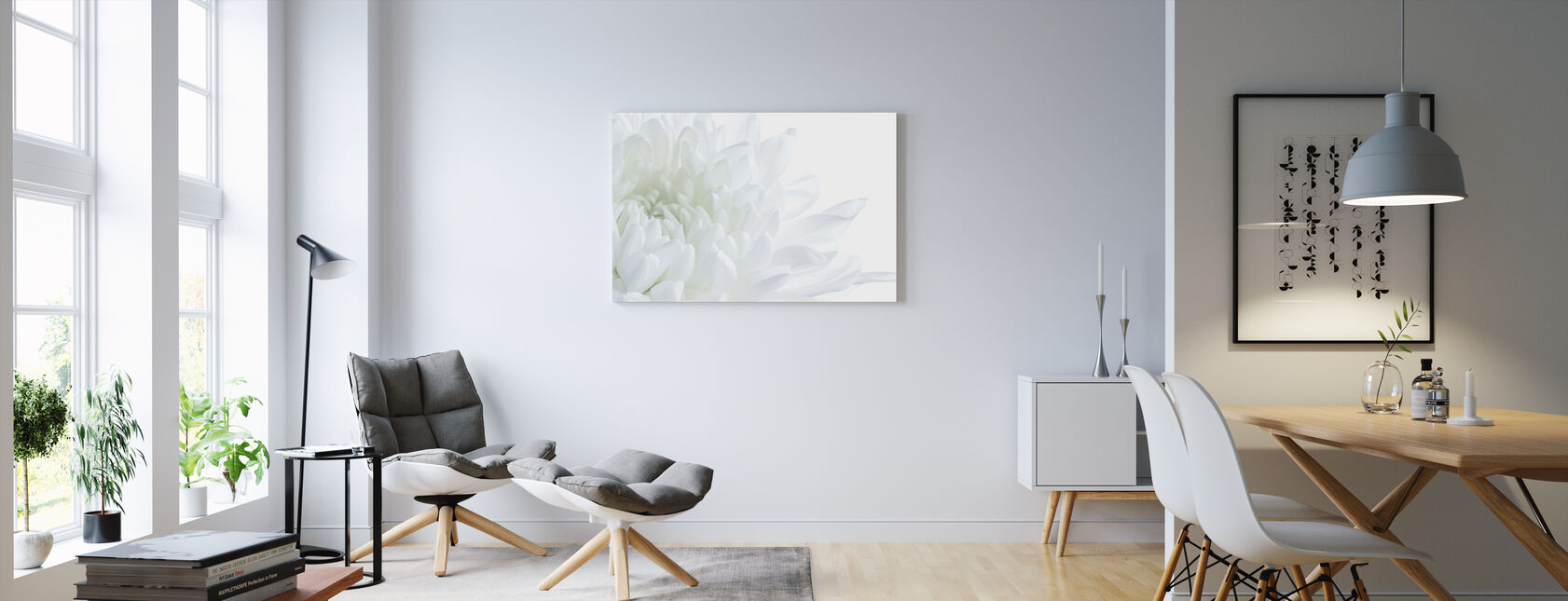 White Flower Blossom - Canvas print - Living Room