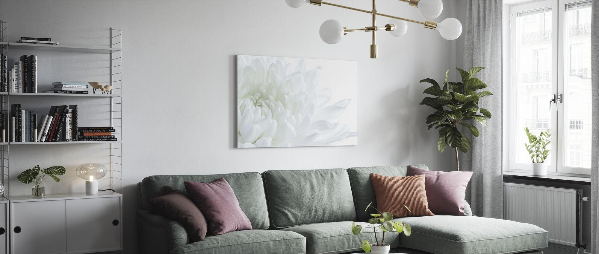 Valkoinen Kukka Kukka Kukka - Canvastaulu - Olohuone