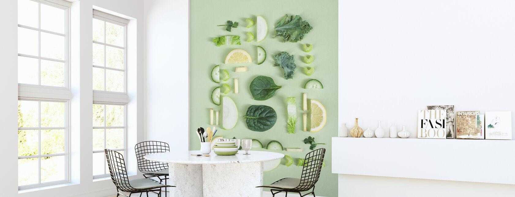 Groenten en fruit - Behang - Keuken