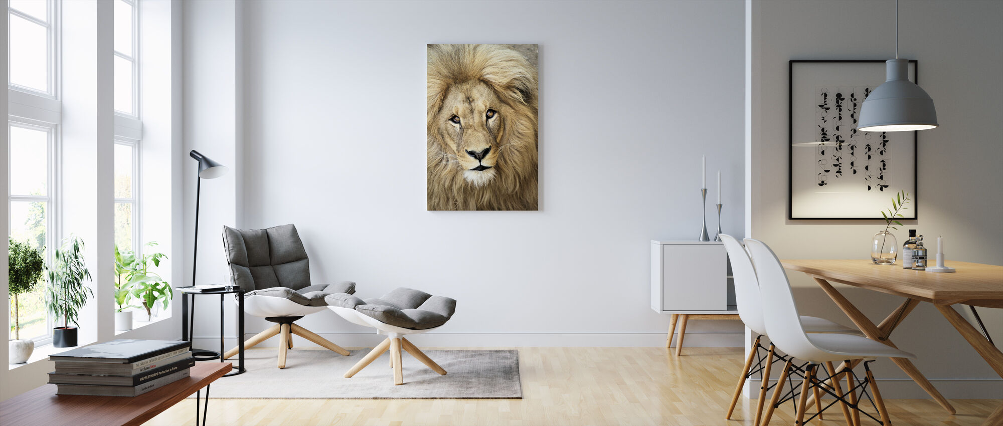 Lions Face - Canvas print - Living Room