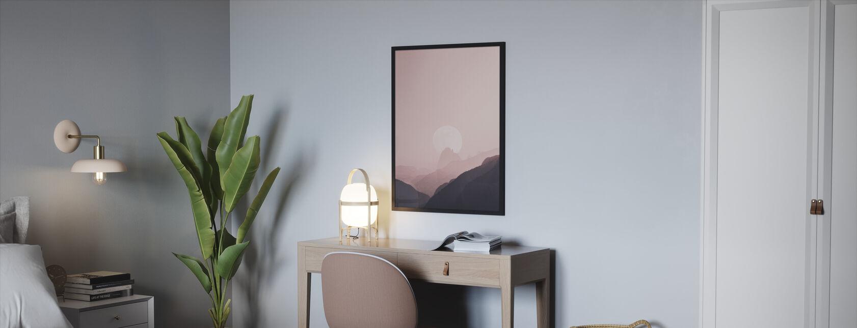 Vuori ja luonto - Kehystetty kuva - Makuuhuone