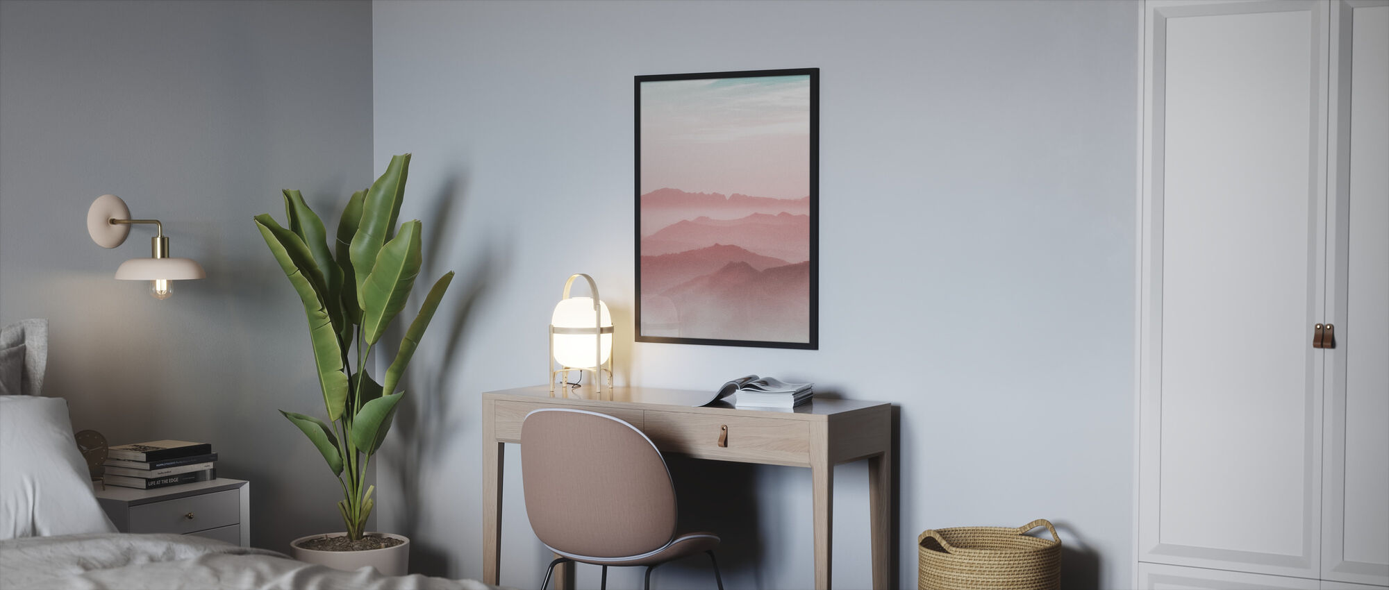 Mist Mountain - Framed print - Bedroom