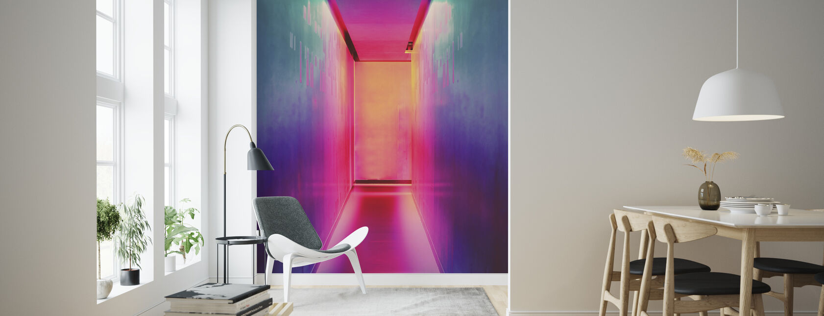 Bright Neon Lights - Wallpaper - Living Room