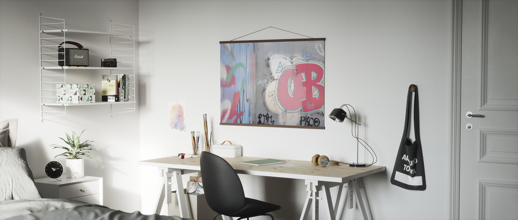 Graffiti on Cement Wall - Poster - Office