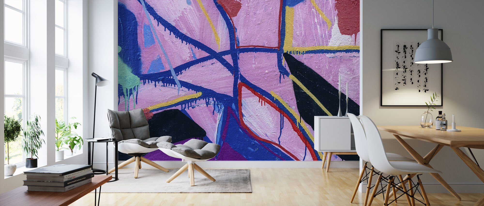 Colorful Paint - Wallpaper - Living Room