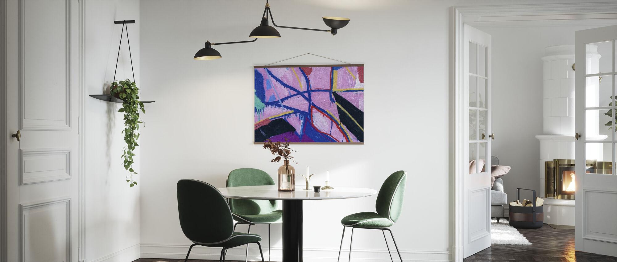 Värikäs maali - Juliste - Keittiö