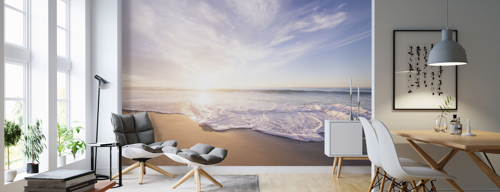 Sea Sand and Waves - Wallpaper - Living Room