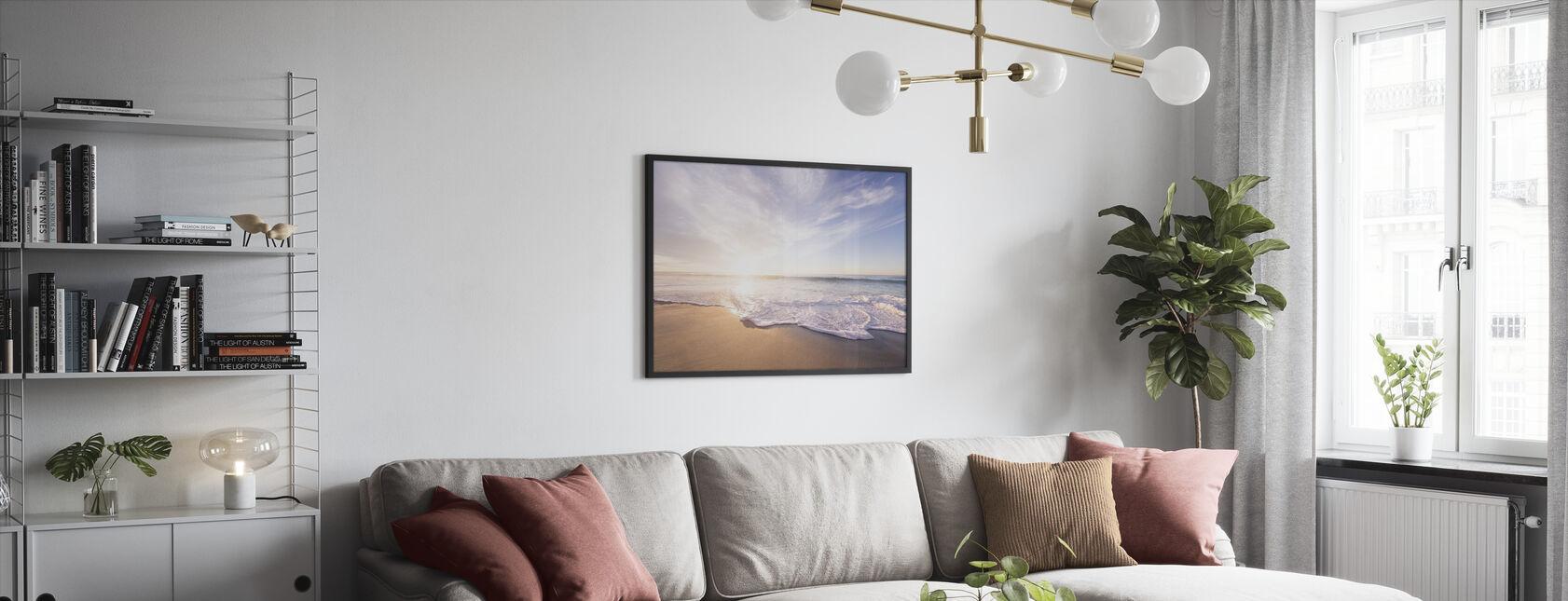 Havsand och vågor - Inramad tavla - Vardagsrum