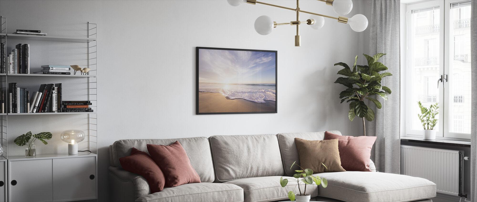 Sea Sand and Waves - Framed print - Living Room