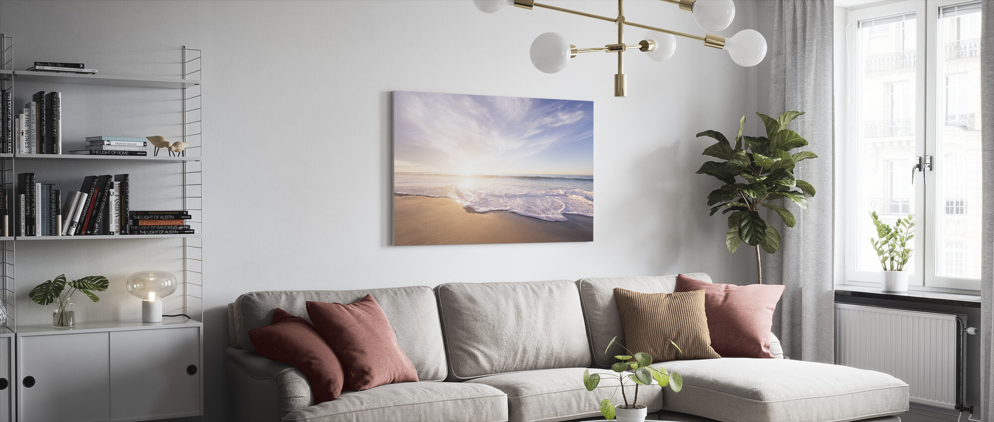 Sea Sand and Waves - Canvas print - Living Room