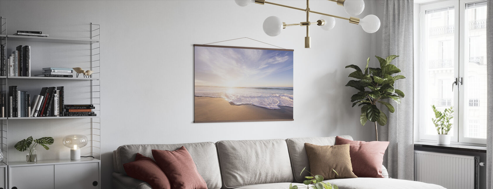 Sea Sand and Waves - Poster - Living Room