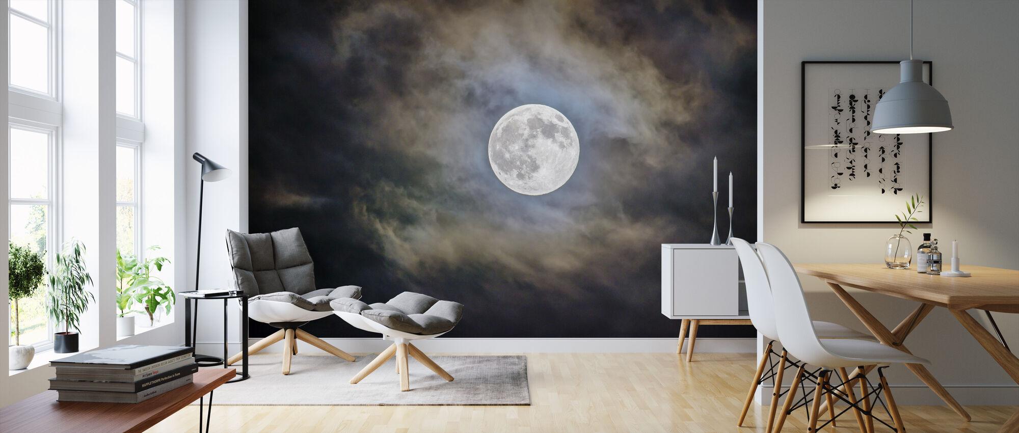 Pilvinen kuu - Tapetti - Olohuone