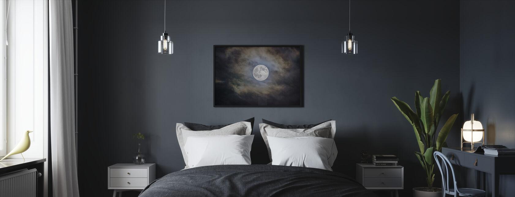 Overskyet Månen - Innrammet bilde - Soverom