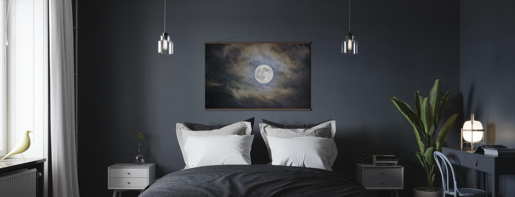 Cloudy Moon - Poster - Bedroom