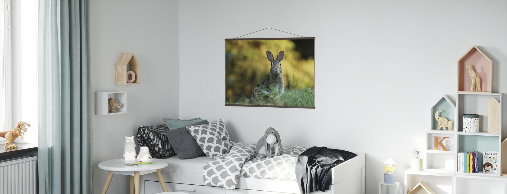 Fluffy Rabbit - Poster - Kids Room