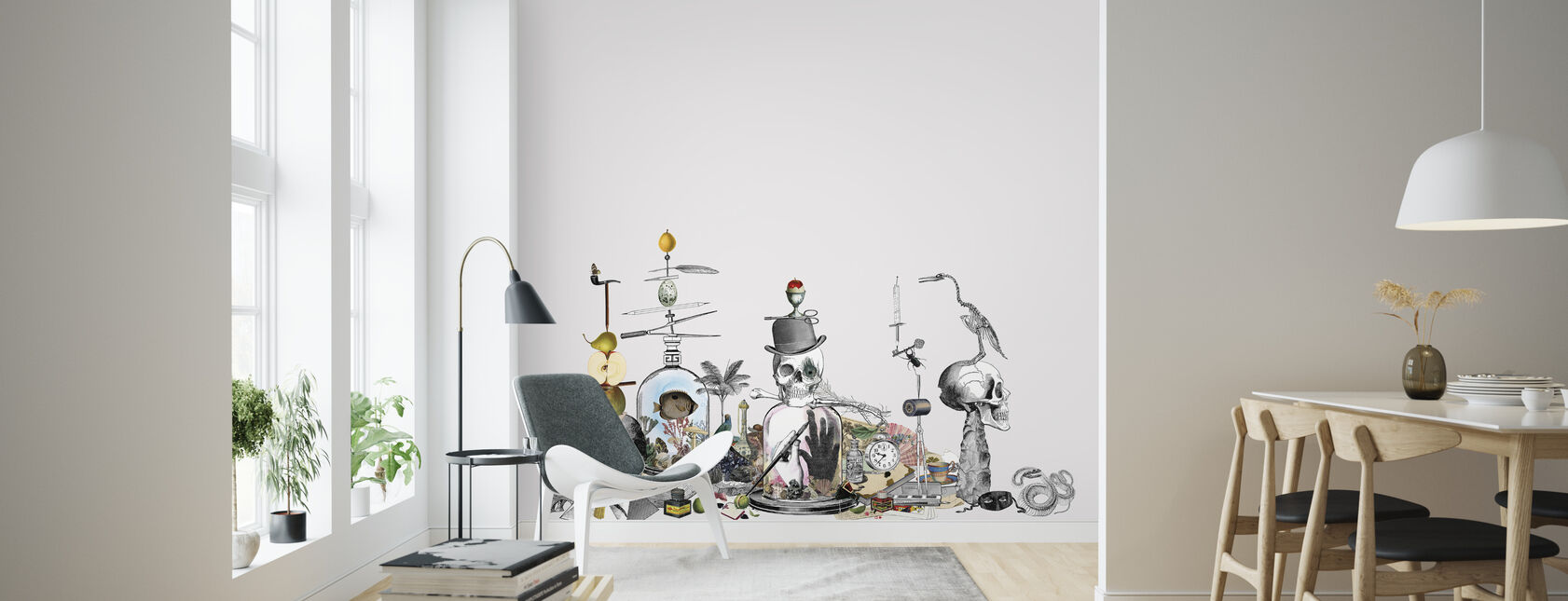 Junkyard - Gray - Wallpaper - Living Room