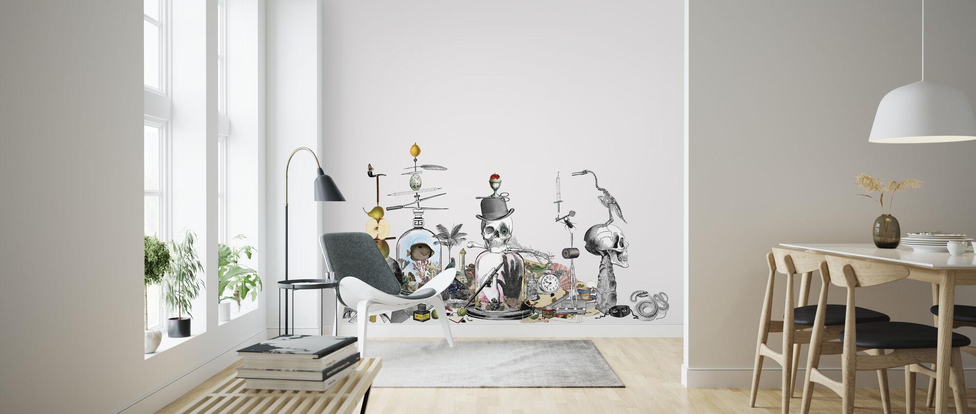 Junkyard - Gray - Wallpaper - Living Room