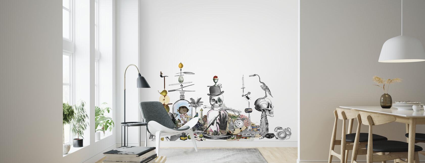 Junkyard - White - Wallpaper - Living Room