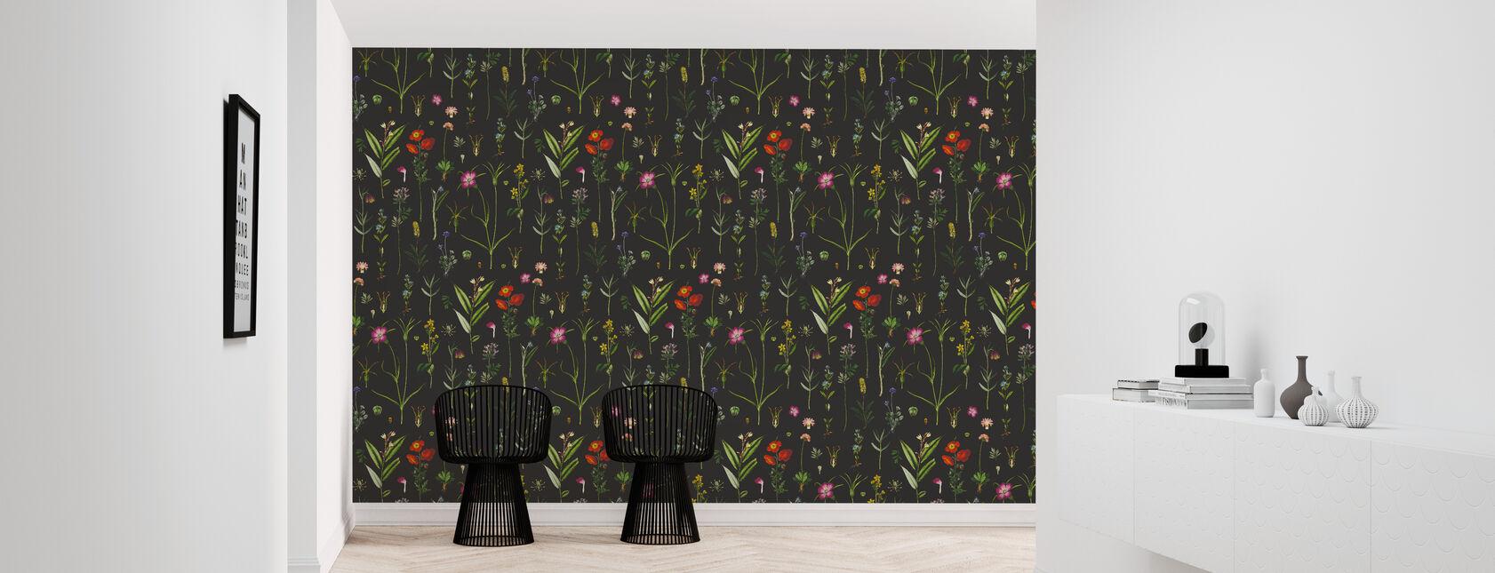 Botanical Morning Black - Wallpaper - Hallway
