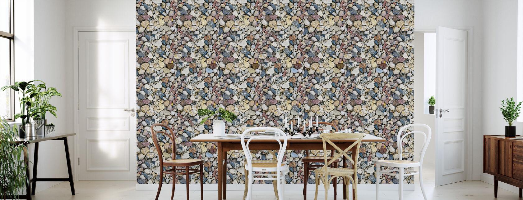 Farverige Hav Stones - Tapet - Køkken