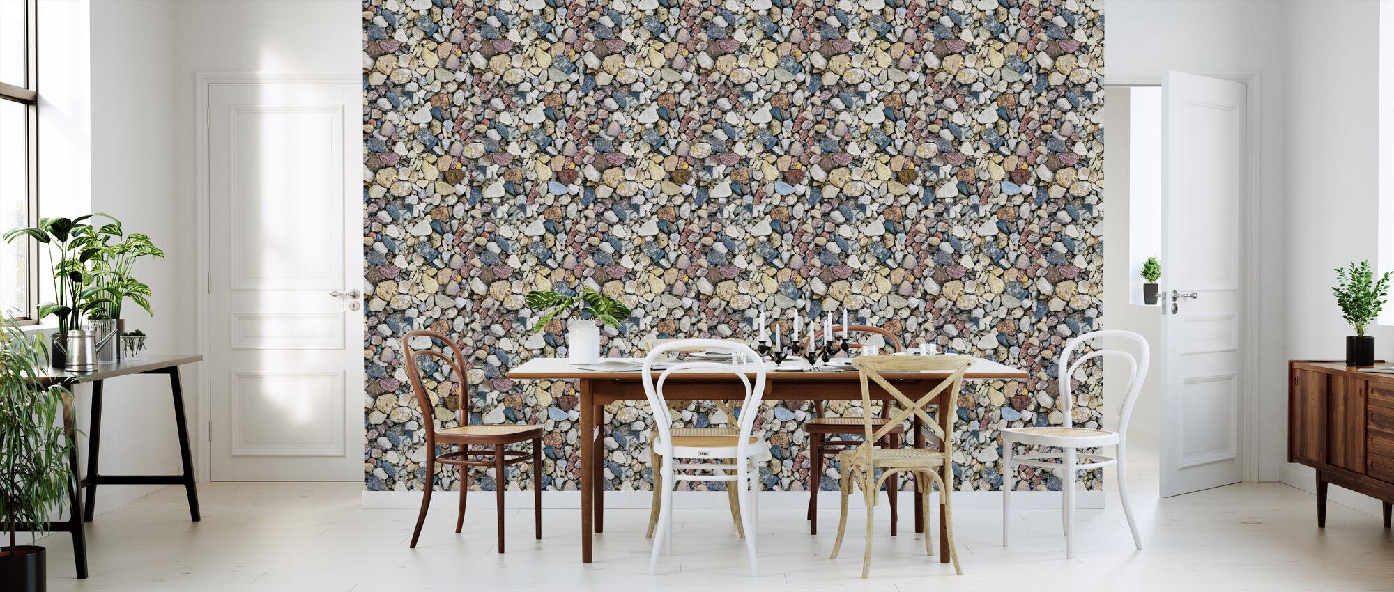Colorful Sea Stones - Wallpaper - Kitchen