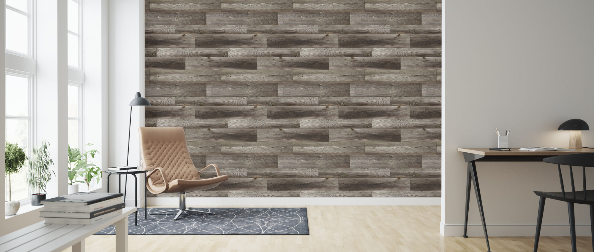 Connected Wood - Wallpaper - Living Room