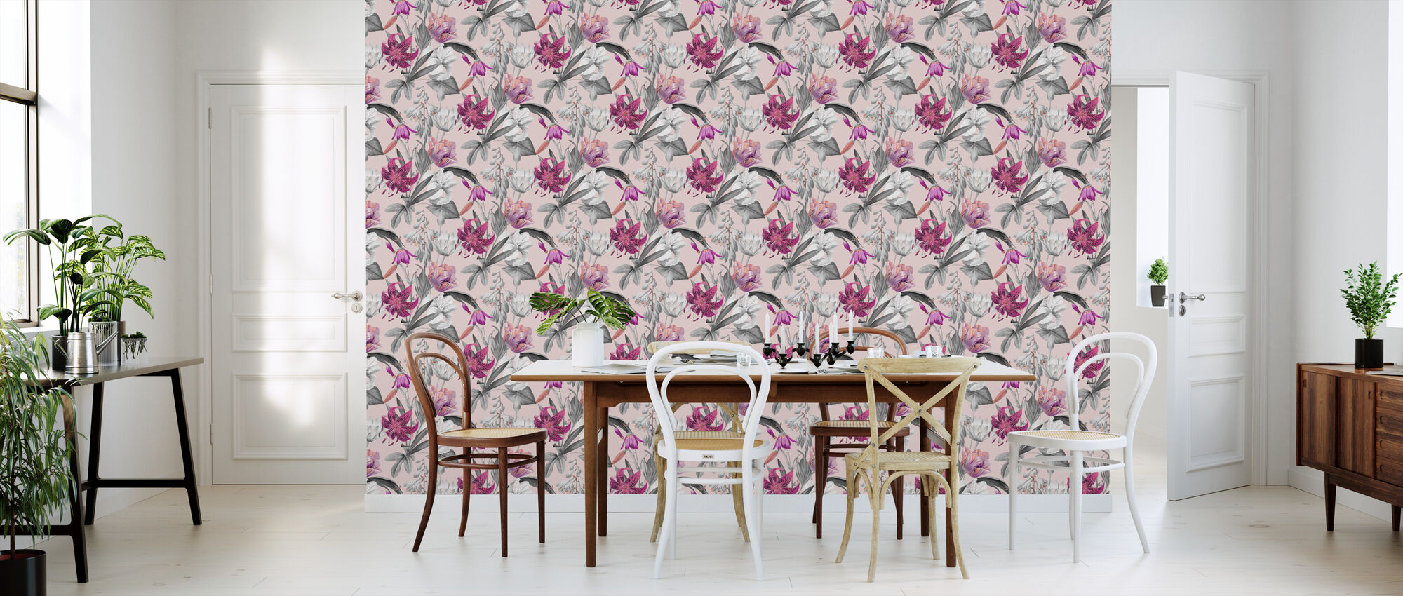 Flowers of Spring Pink - Wallpaper - Kitchen