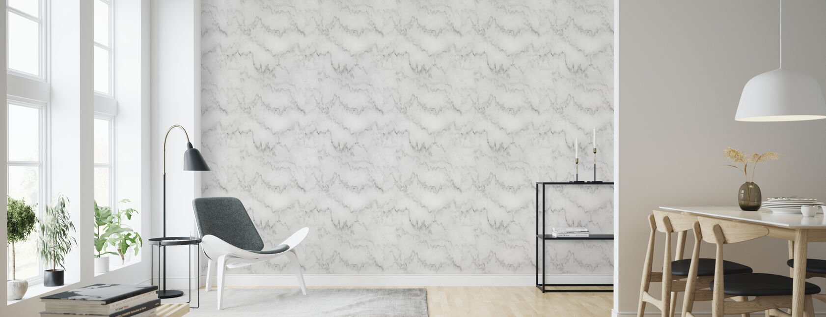 Marmer Carrara - Behang - Woonkamer