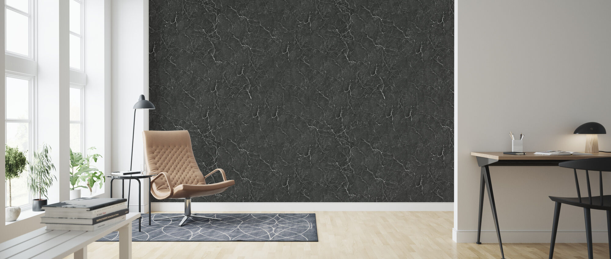 Marble Marquina - Wallpaper - Living Room