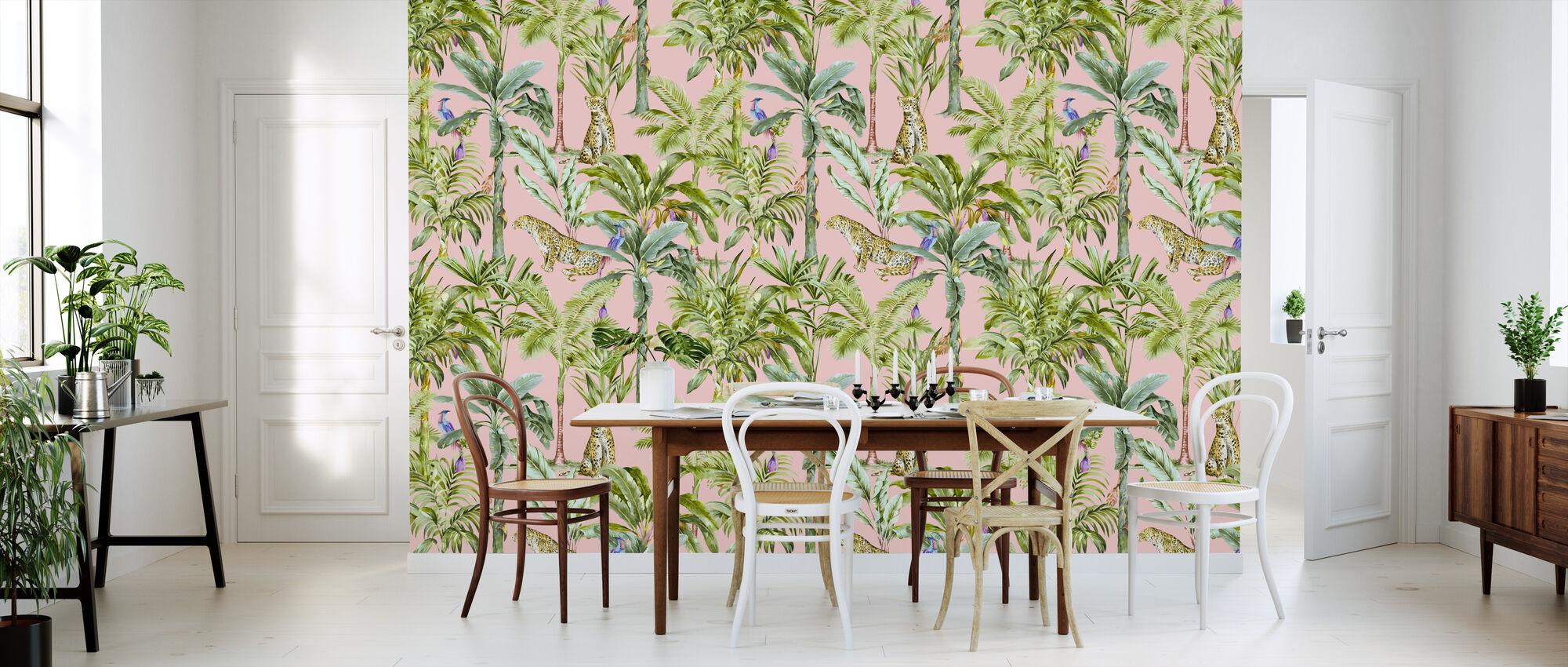 Tropical Jungle Tutorial - Rosa - Papel pintado - Cocina