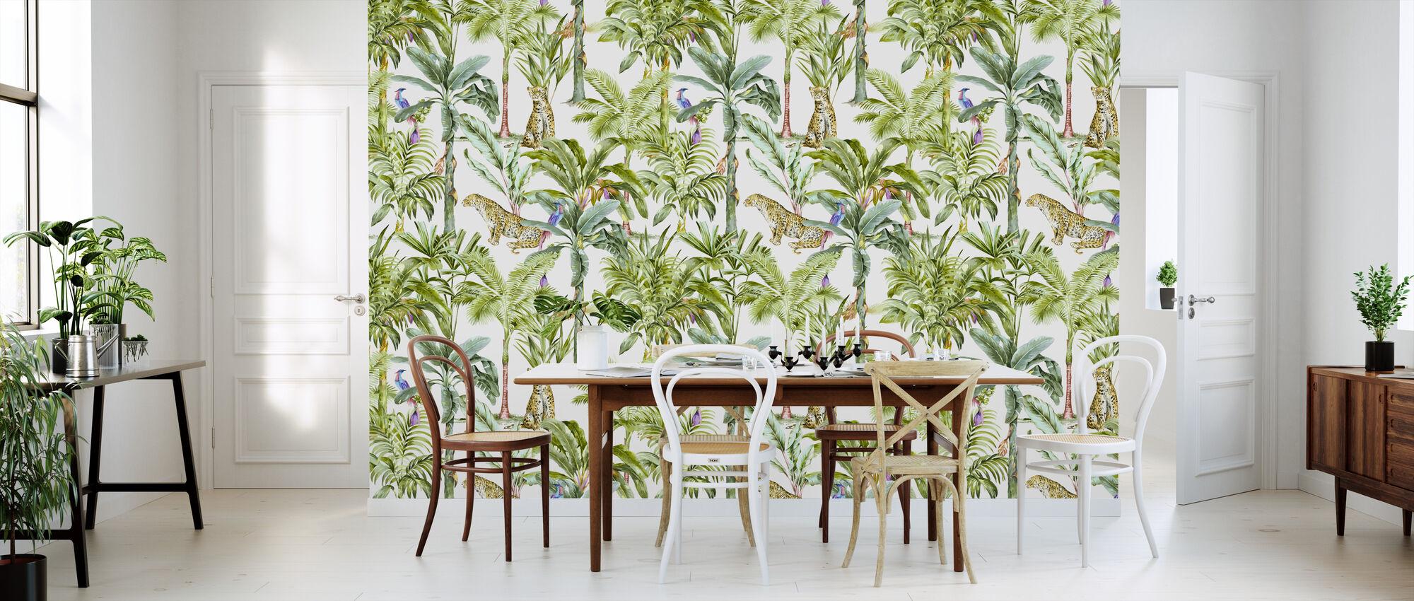 Tropisk jungelvandgang - Tapet - Kjøkken