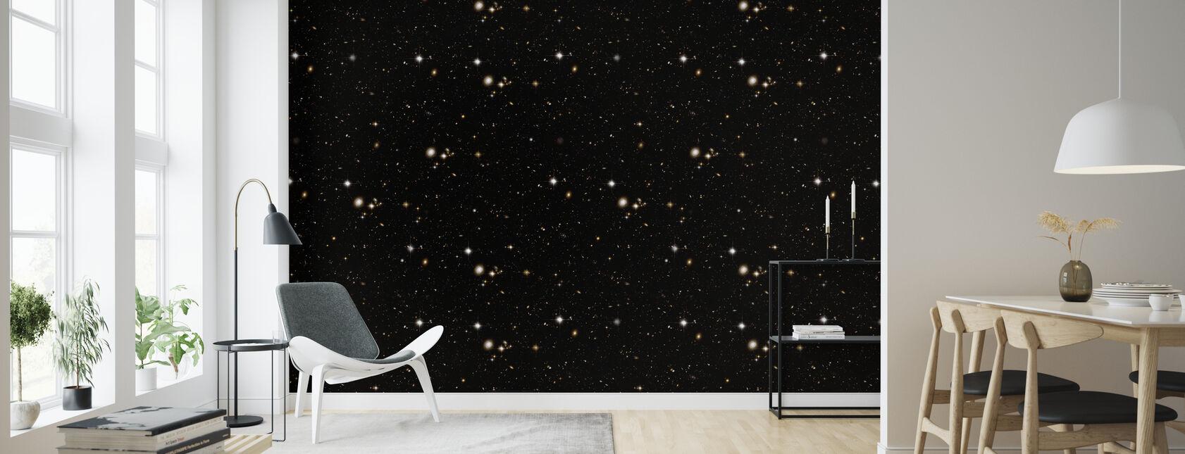 Schwarze Sterne - Tapete - Wohnzimmer