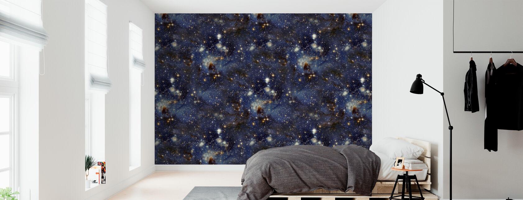 Blauwe Sky Rivier - Behang - Slaapkamer