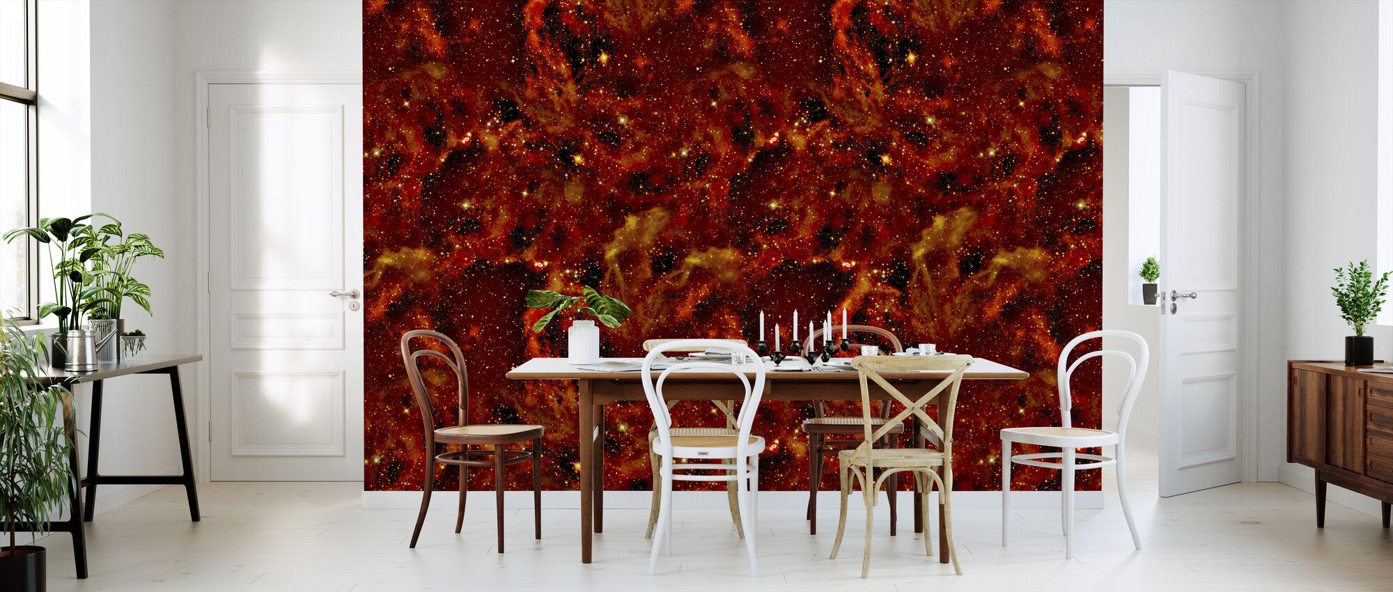 Fire Land - Wallpaper - Kitchen