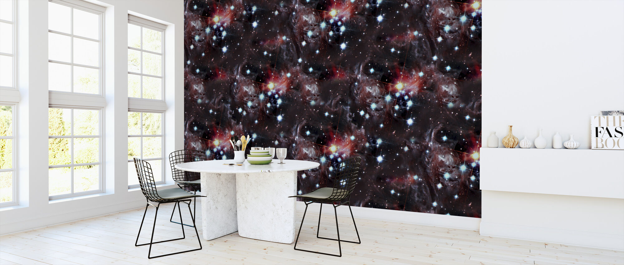 Red Stars - Wallpaper - Kitchen