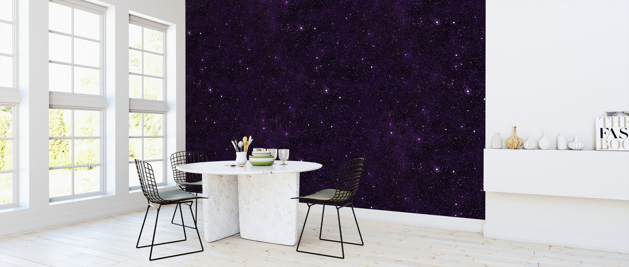 Starfield Purp - Wallpaper - Kitchen