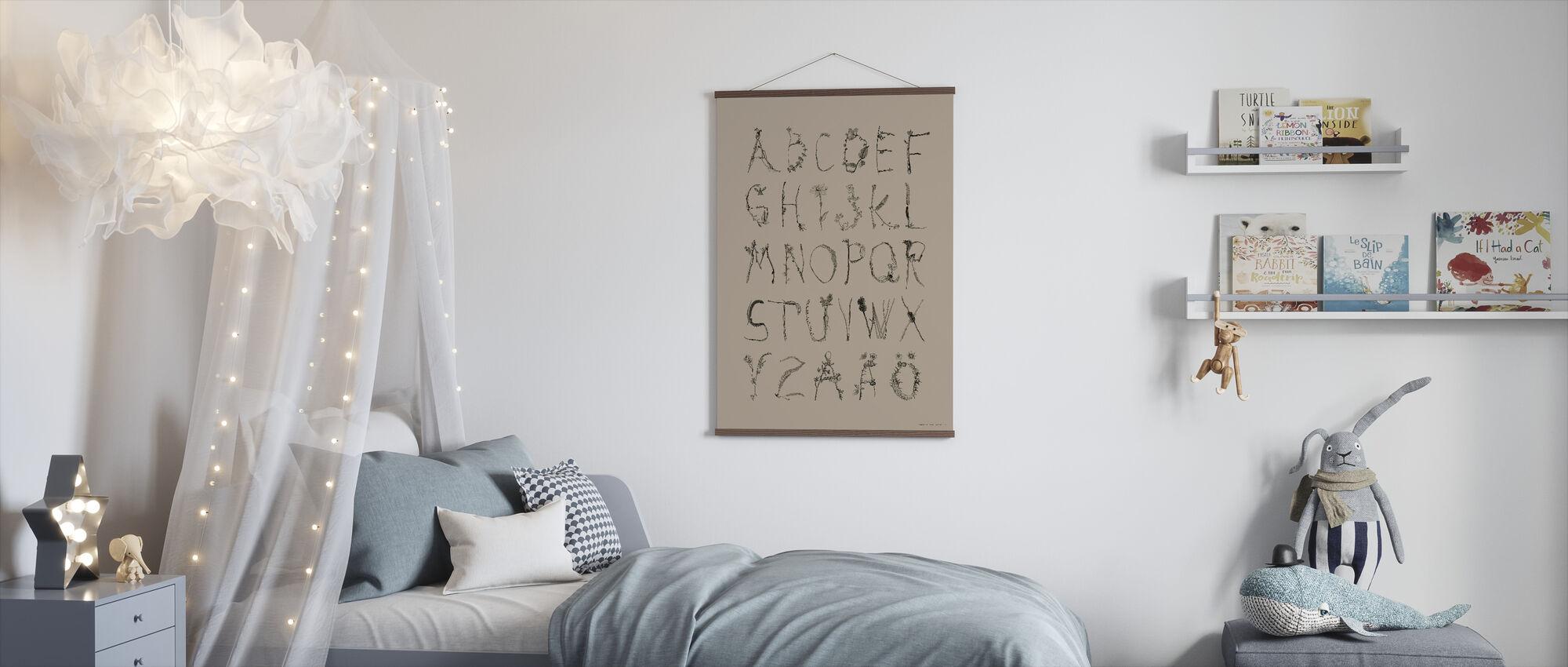ABCedarian - Grellow - Poster - Kids Room