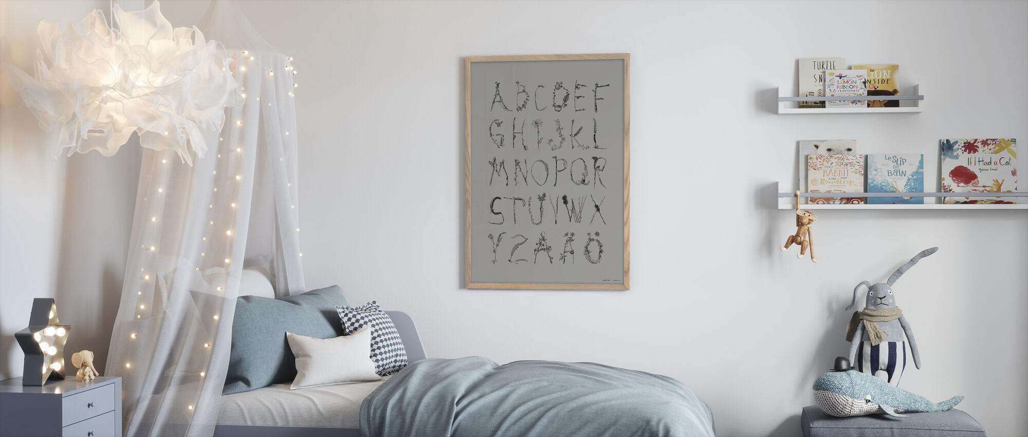 ABCedarian - Grey - Framed print - Kids Room