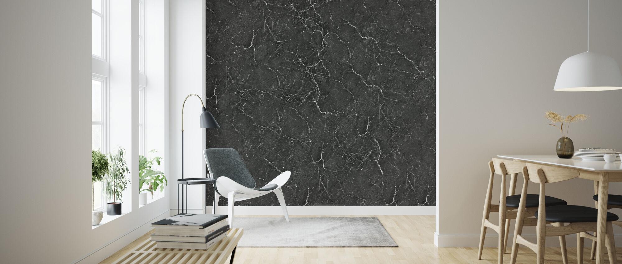 Sort Marmor - Tapet - Stue