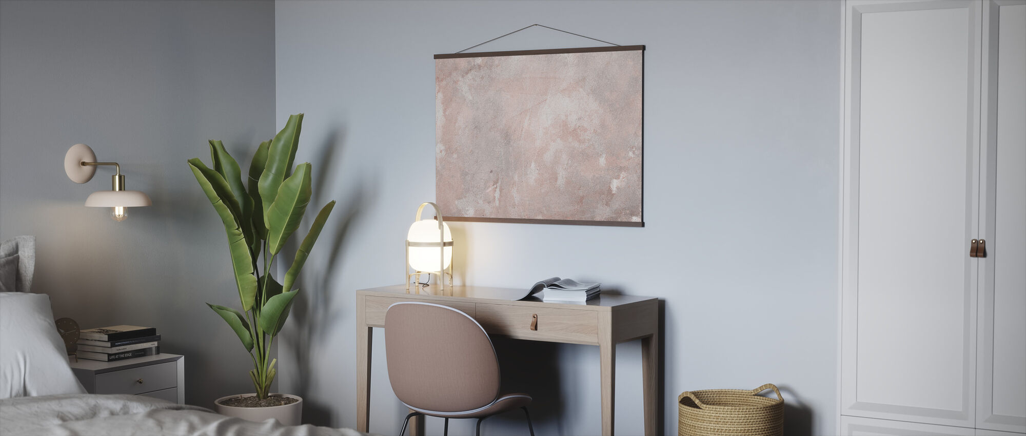 Soft Grunge Stone Wall - Poster - Office