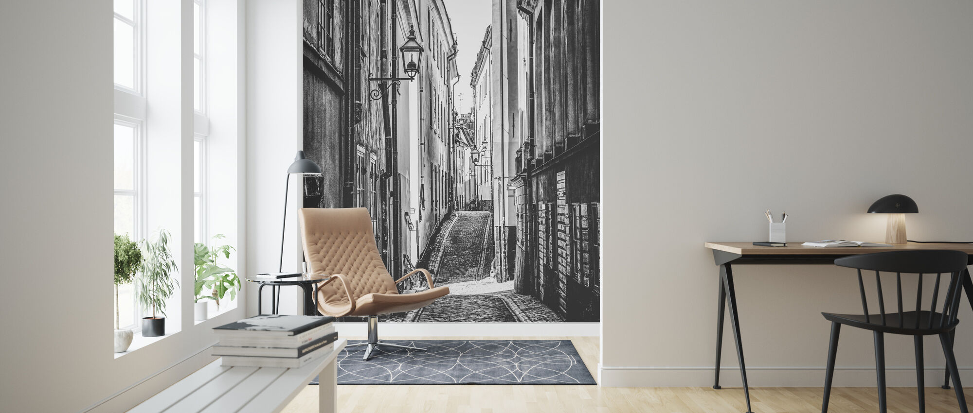 Streets of Stockholm - Wallpaper - Living Room
