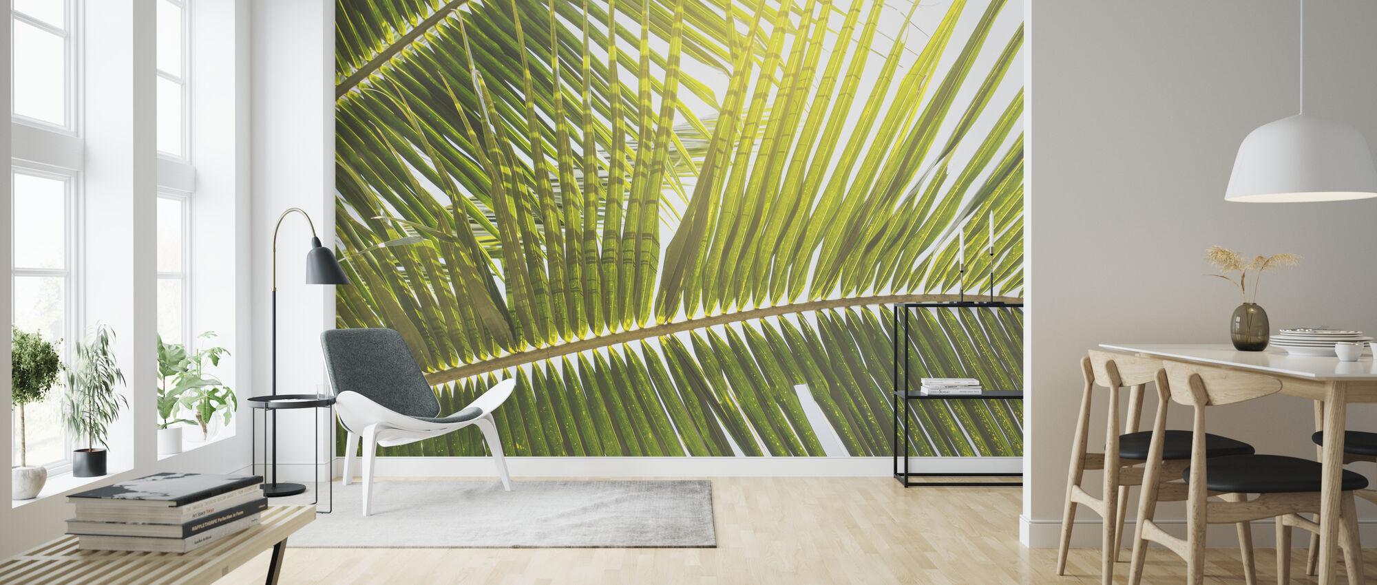 Sollys trau Palm Leaf - Tapet - Stue