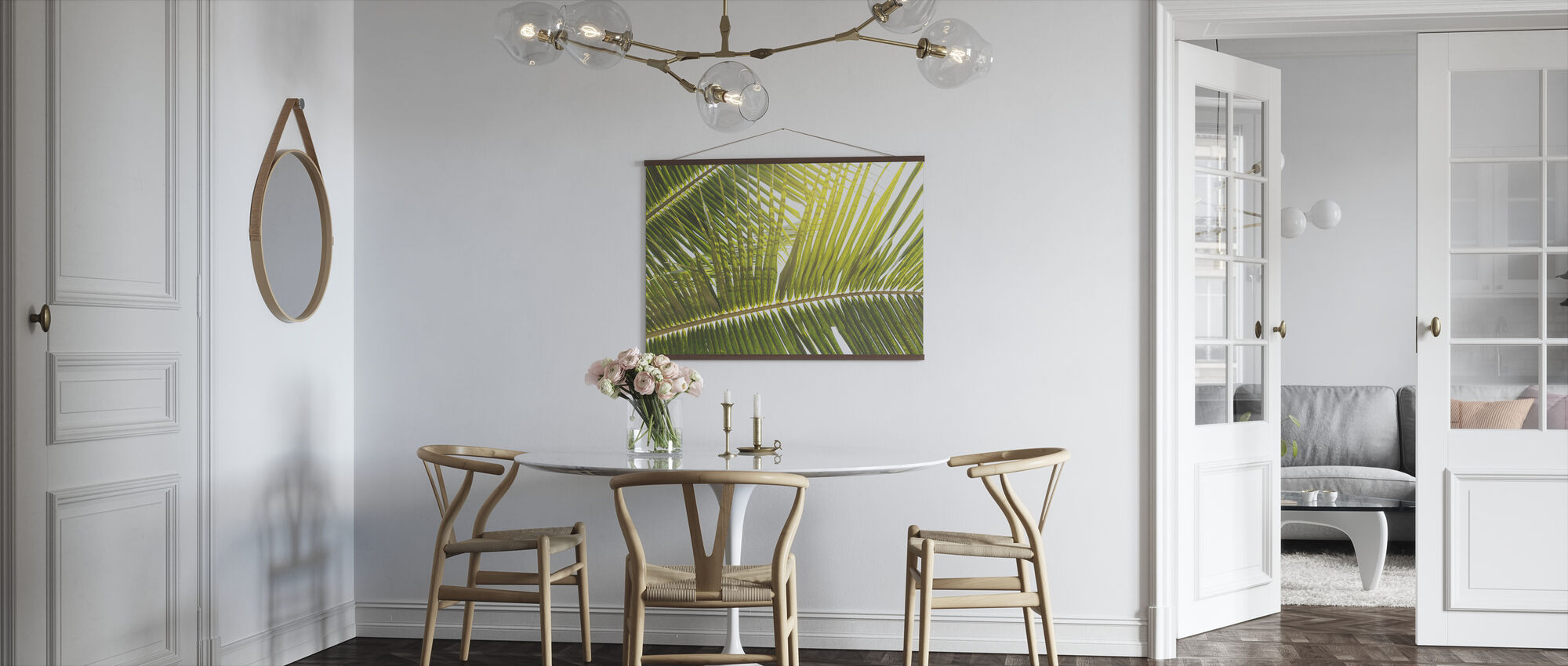Sunlight trough Palm Leaf - Poster - Kitchen