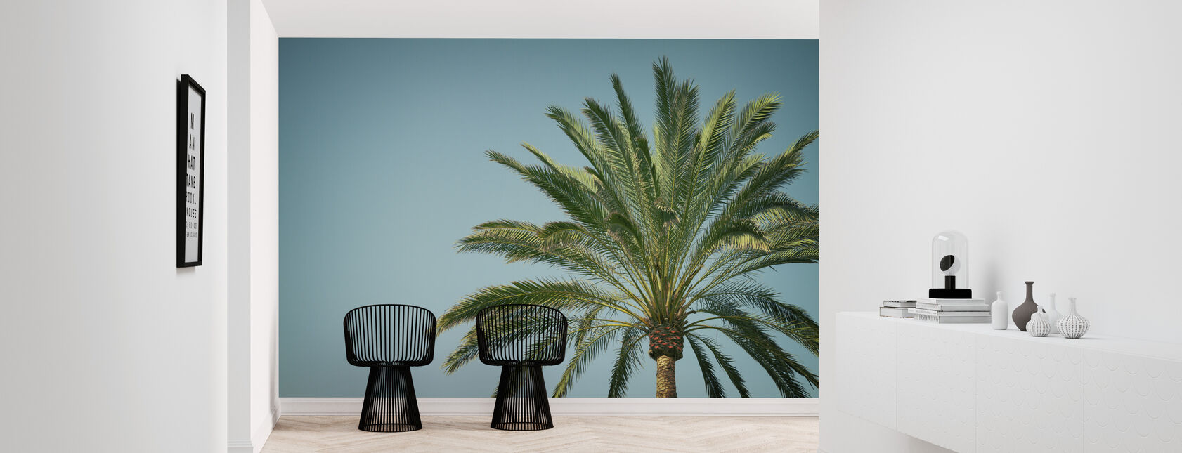 Turquoise wall murals