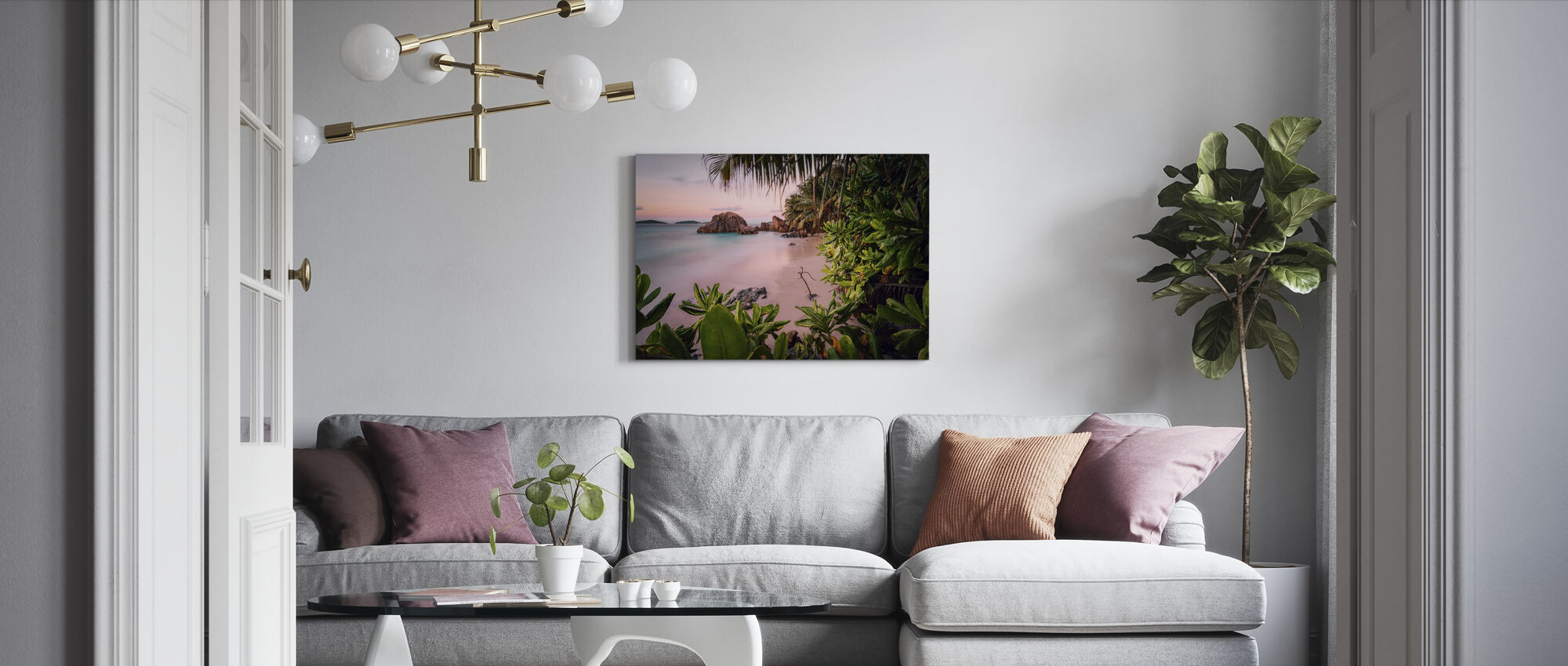 Tranquil Paradise - Canvas print - Living Room