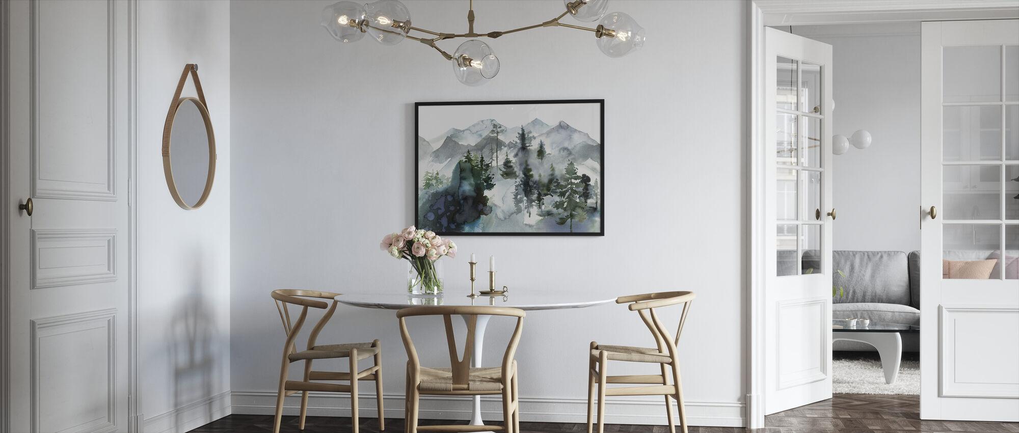 Akvarell Landskap - Innrammet bilde - Kjøkken
