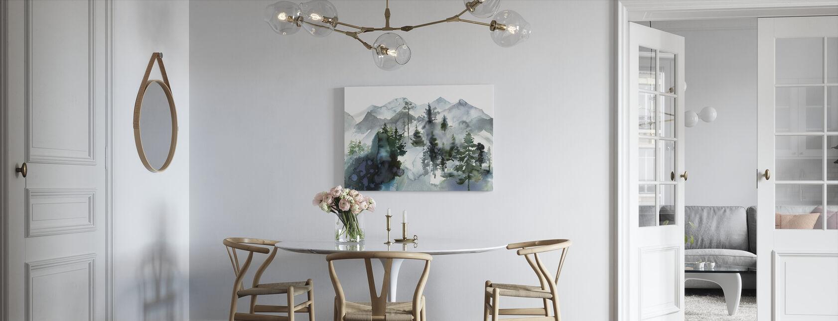 Watercolor Landscape - Canvas print - Kitchen